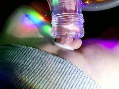 Christmas fleshlight cock milking in my car