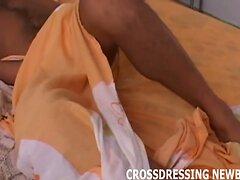 I watch myself jerk off in the mirror when I crossdress  scene 2