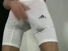 Monster cock showing off in lycra pants