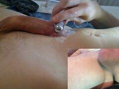 3 POV precum, prostate, cumshot with slowmo parts
