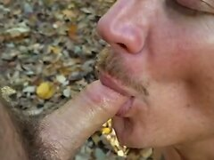 Naked Fun in the Woods with a Friend.