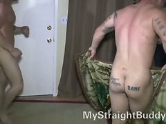 Straight Marine Buddies Wrestling Naked  scene 3