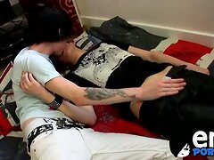 Inked emo twink Lewis Romeo drills his cute friend Kyle
