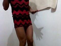 Joselynne In Sexy Red Mini Dress II