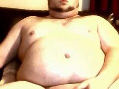 Another sexy chub wanking