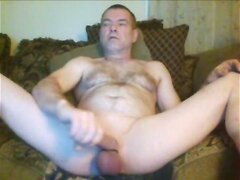 Mike Muters morning masturbation with orange in my ass
