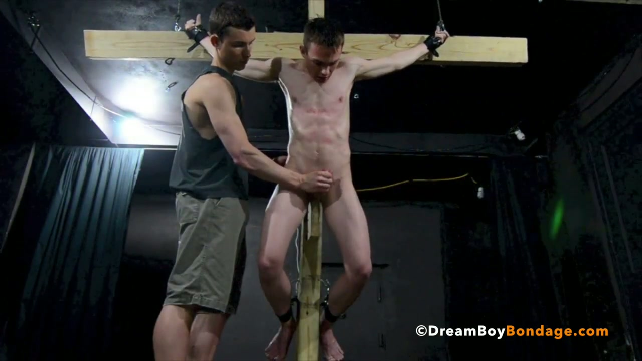 Slave crucified and milked was really