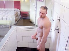 Maskurbate Straight Brad Sexy Shower Solo