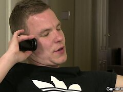 Gay deepthroat before banging from behind