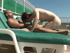 2 Guys Fucking On The Pool  scene 2