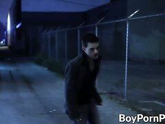 Vamp preys for his victim in the alley