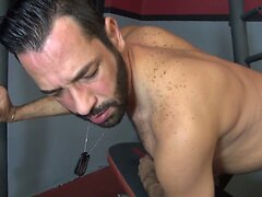 Bareback - Hungry Bottom Gym Fuck