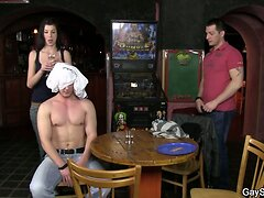 Slut boy gets fucked 1st time on the table