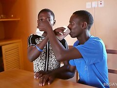 African Twinks Bareback Threesome  scene 2