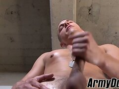 Good looking Aston Springs wanking his soldier dick hard