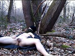 naked boy in the woods