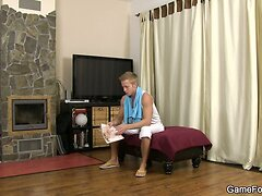 Gay bet to seduces hunky couch