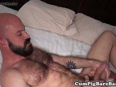 Bald bottom cub barebacked by bear