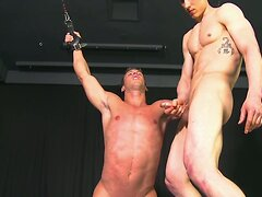 Straight Stud Sucks Big Cock - Is Stretched  scene 3
