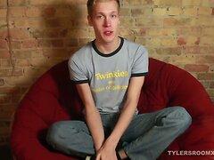 Blond Twink Corey Jerks Off