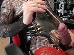 CD DWT Sissy Slut Boy Sounding her Cock and Nipple-Play