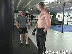 Big cock muscular MMA studs fucking right in the ring