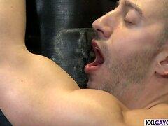 Big gay cock locker room sex