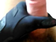Handjobs Gloves leather and satin part 1 (and pants leather)