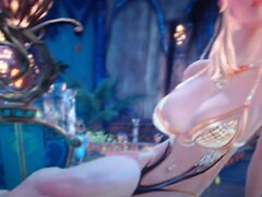 Busty High Elf Poses For A Huge Load! (TERA)