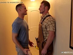 Hot Construction Worker Caught with Big Dildo