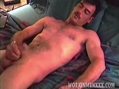 Hairy Hung and Handsom Guy Stroking Himself Off