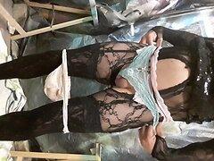 Crossdressing slut feeling sexy and hot