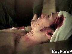Vamp bite partners neck after rough sex