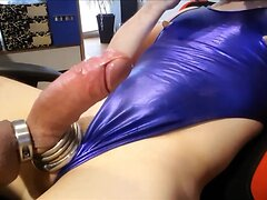 Sissy Plays with her Titts..and Milking her Fat COCK