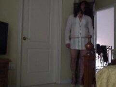 FEM SISSY IN SHORT WHITE DRESS