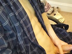 Skinny Teen Cums Over His Body