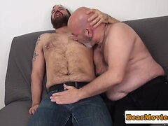 Pierced bear Sam Black rimming and assfucking