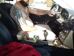 Driving Nude, and Stroking II (Public Exposed)