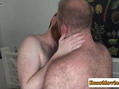Chubby top bear assfucking bottom doggystyle