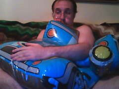 Inflatable car boat rider