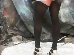 sissy crossdressing, loves a dildo up her ass