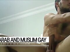Cute and hard Arab gay bad boy