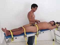 Asian Twink Jesse On The Tickling Rack