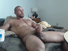 Solo Hunk Beats His Meat
