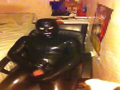 Latex Catsuit, Cumshot And Licking Up