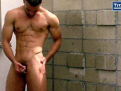 Interracial Gay Sex In An Outdoor Shower