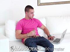 ManRoyale Guy caught masturbating online by bf
