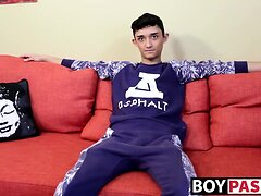 Indian dude Casey Xander enjoys his solo session time