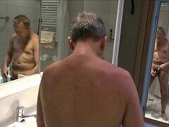 1417 at1 Mann Selfie rasiert sich total nackt oben und unten