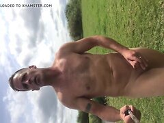 Nudist naked by river part 1